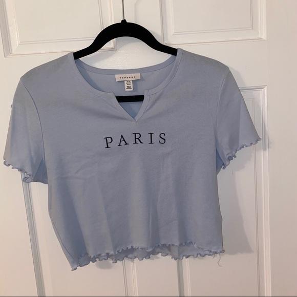 Topshop PARIS crop top